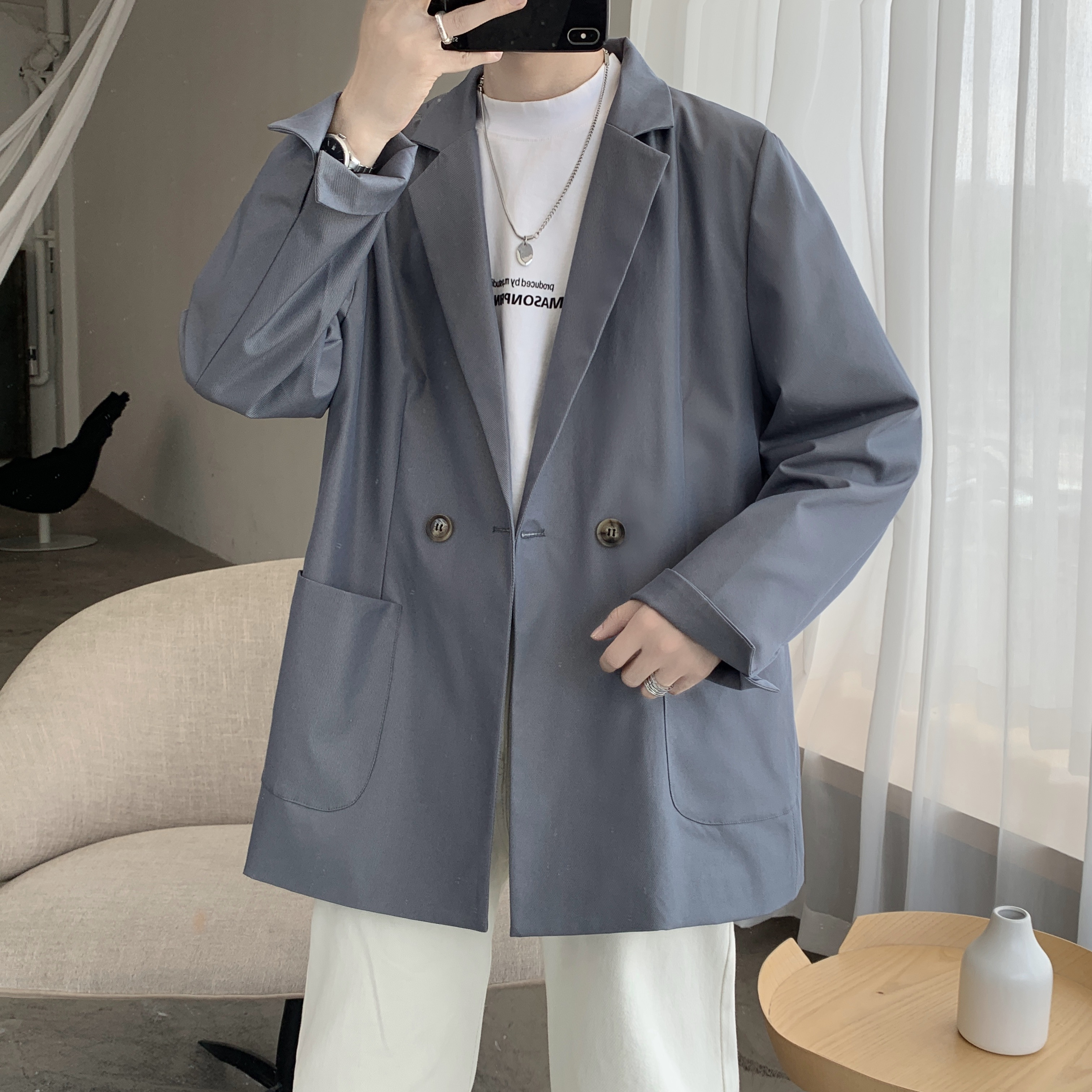 秋季新款男士潮流外套韩版高级感小西装  XZ609-XZ10-P80