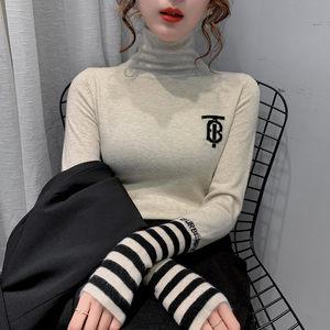 堆堆高领打底毛衣女2019新款秋冬韩版女士修身黑色洋气长袖针织衫