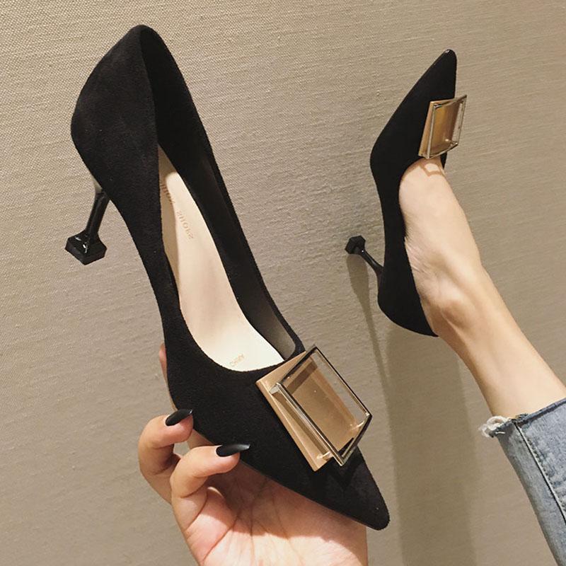 李溪芮同款高跟鞋学生十八岁女鞋春秋百搭时尚温柔风chic仙气单鞋