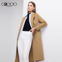 【预售】G2000女装21秋冬新款绵羊毛H型外套中长款气质羊毛大衣