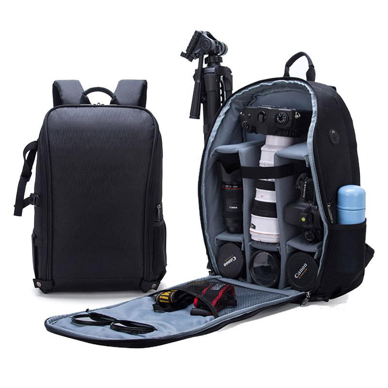 新款折叠单反相机包防水防盗大容量双肩摄影包时尚休闲无人机背包