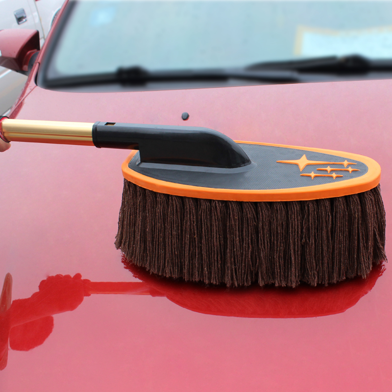 Auto supplies pure cotton car cleaning mop dust duster car washing brush telescopic wax mop wax brush cleaning ash duster
