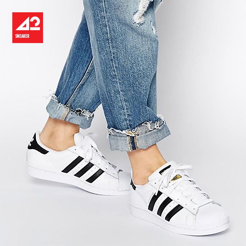 42运动家 Adidas Superstar 金标 女子 贝壳头板鞋 C77154 FU7712图片