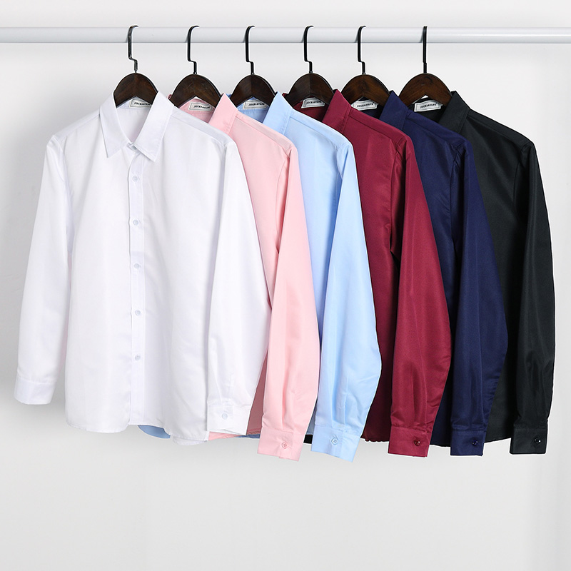 Summer short sleeve white shirt mens work clothes Korean slim fit long sleeve shirt inch business professional formal clothes half sleeve