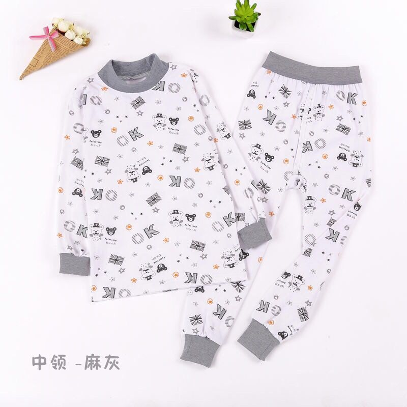 Suit cotton baby shirt autumn clothes mens underwear collar cotton sweater middle-aged childrens autumn pants high and low girls children