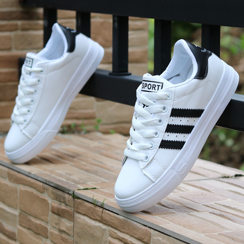 Boys shoes spring 10 small white shoes childrens Board Shoes Boys white sports shoes 12 big boys shoes 15 year old primary school students