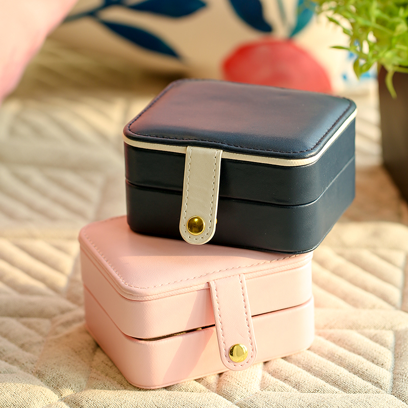 Jewelry box multi layer Princess portable ins wind portable travel Earrings Necklace mini Chinese storage box for women