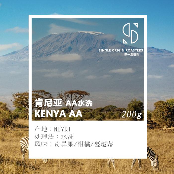 Single origin Kenya AA washed coffee beans 200g