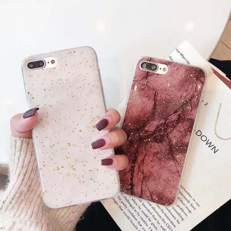 (用2元券)网红同款oppoa5手机壳a7x锡箔大理石a83软壳个性复古a1硅胶套a3创意闪