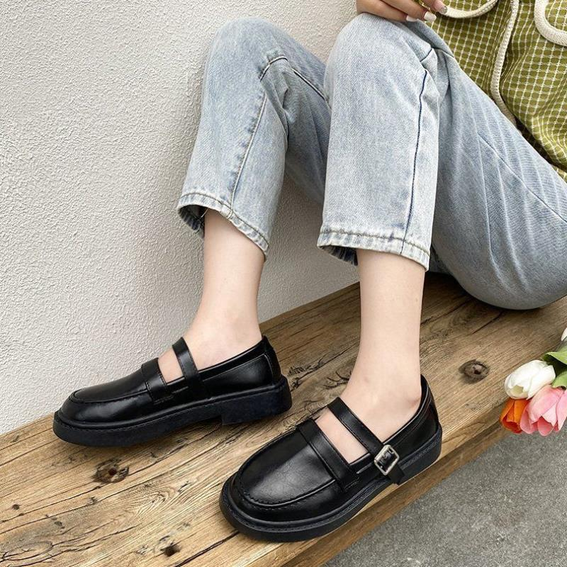 Small leather shoes female student Korean soft girl Japanese JK uniform spring and autumn single shoes versatile retro British Lolita Meru