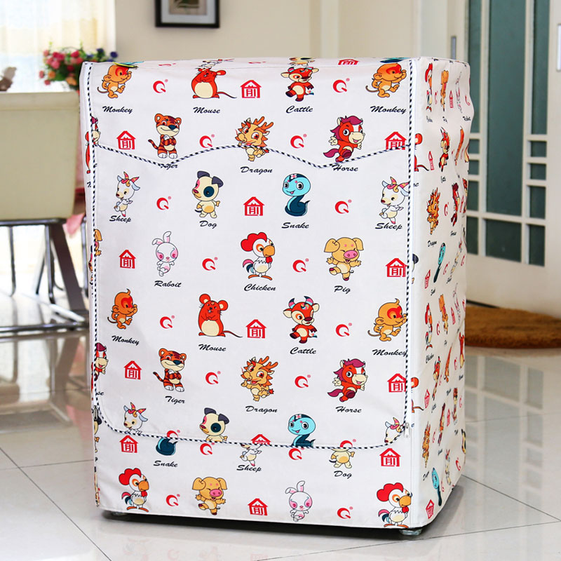 Special Siemens Haier Bosch Samsung Midea LG Little Swan drum washing machine cover waterproof and sunscreen thickened