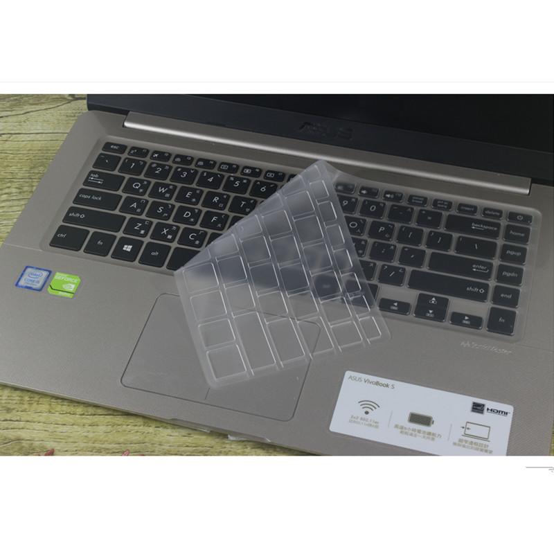 华硕S5100UQ8250键盘保护贴膜15.6英寸电脑笔记本全覆盖防尘套罩垫非夜光发按键膜凹凸透明硅胶彩色可爱卡通