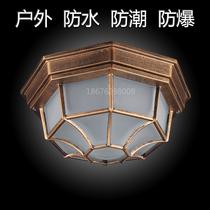 吸顶灯LED复古户外室外防水防潮玄关欧式美式浴室卫生间阳台过道