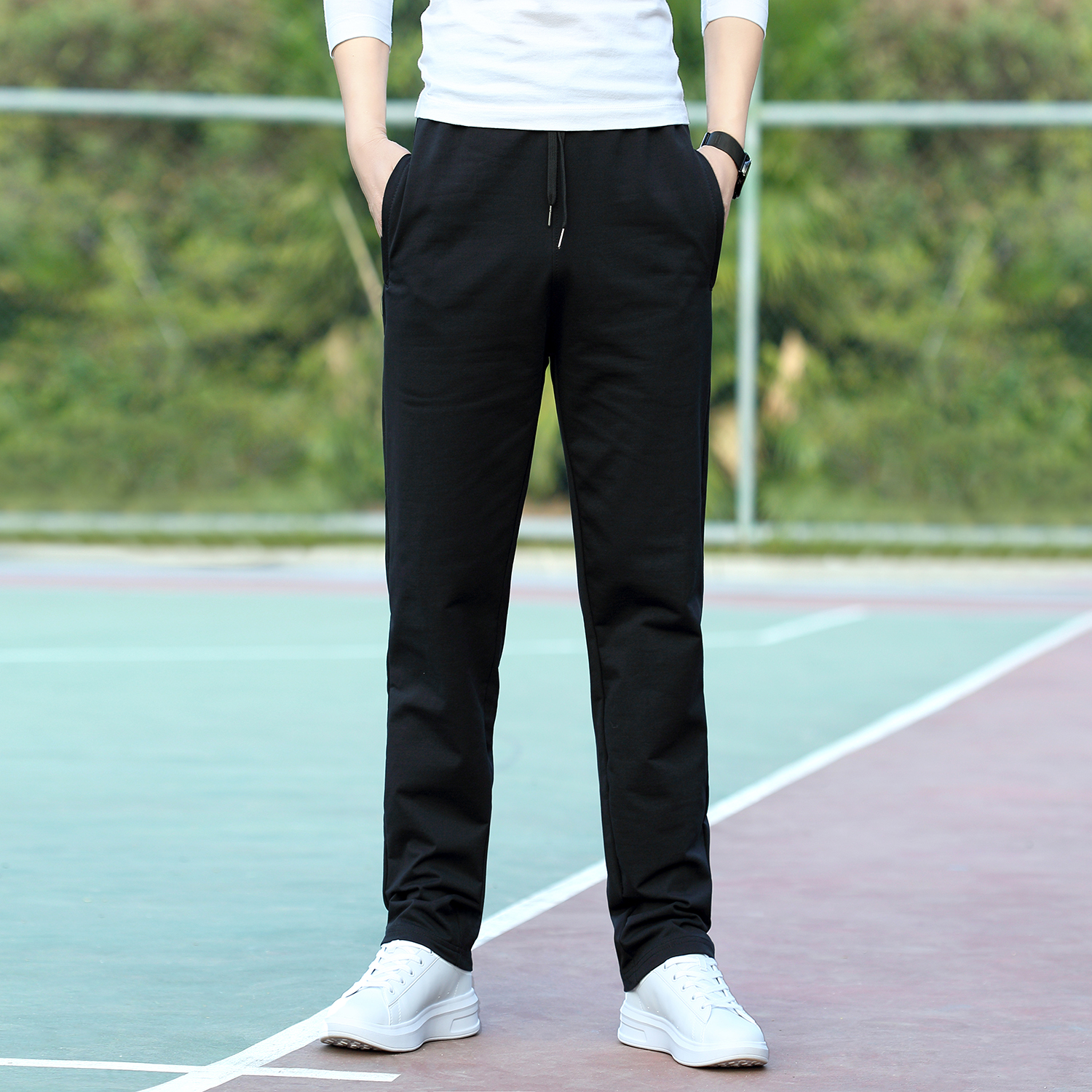 Personalized elastic large color contrast 2019 morning exercise Europe and America autumn summer camouflage jogging pants mens casual pants