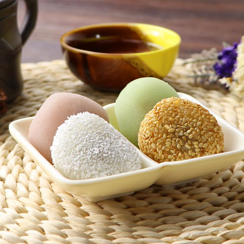 台湾风味手工麻薯干吃汤圆2斤整箱散装 休闲零食礼包糕点早餐特产