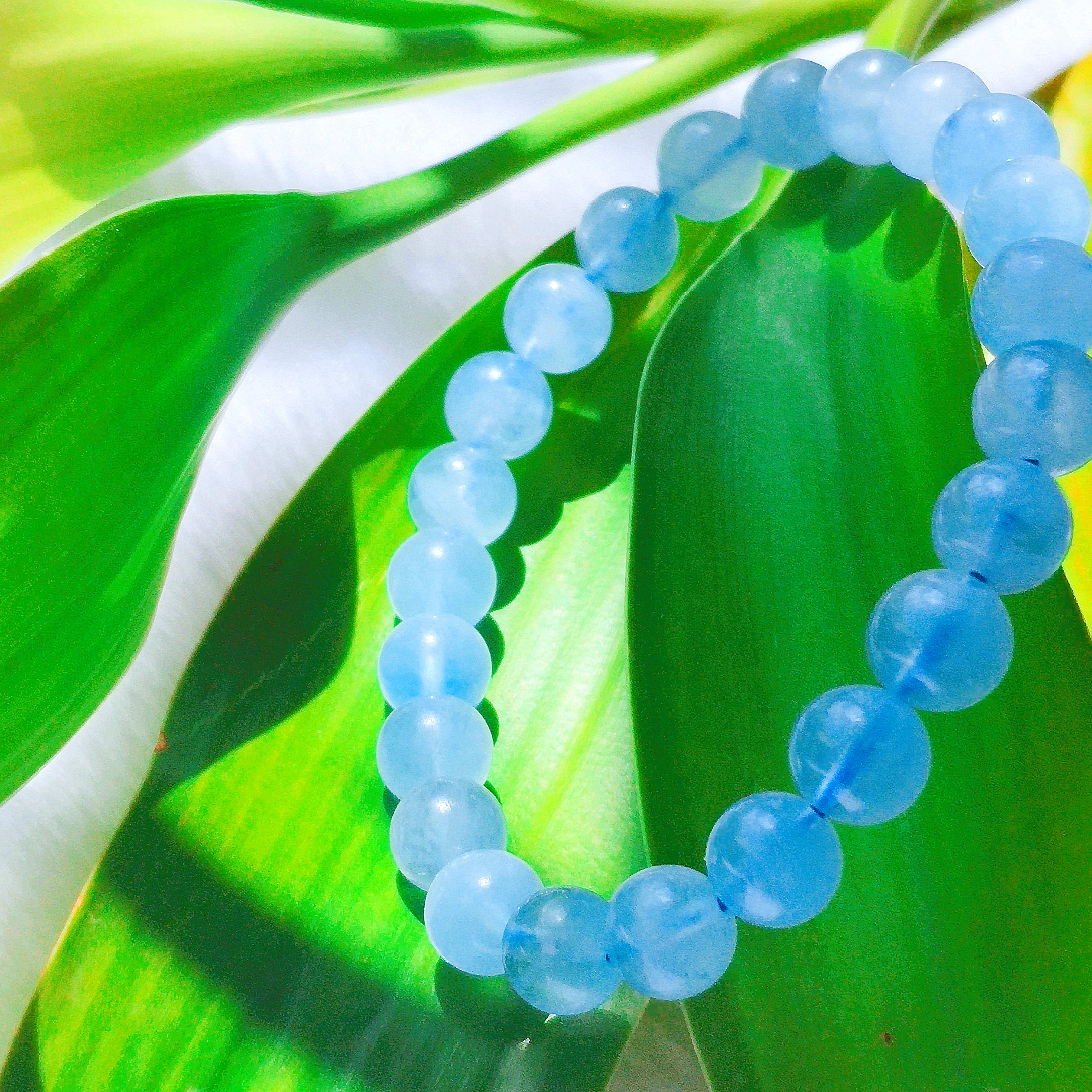 Factory delivery special offer single circle Aquamarine Bracelet 6-10 mm exquisite natural lady Bracelet