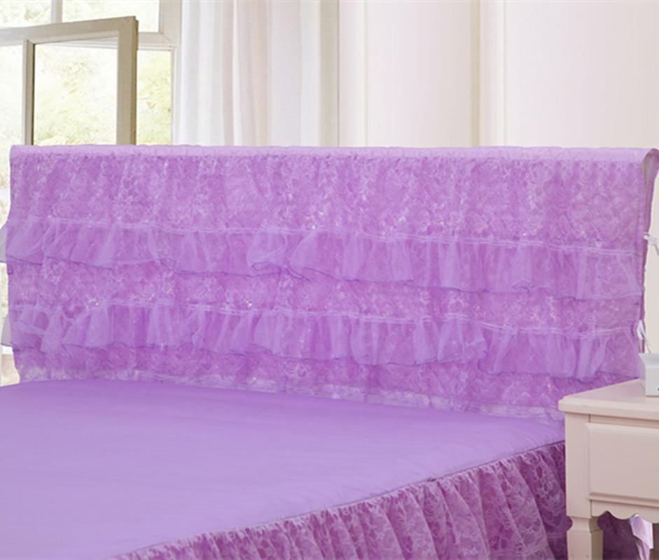 夏季韩版三层蕾丝床头罩1.5m1.8m床头套靠背罩保护防尘罩软包布艺(非品牌)