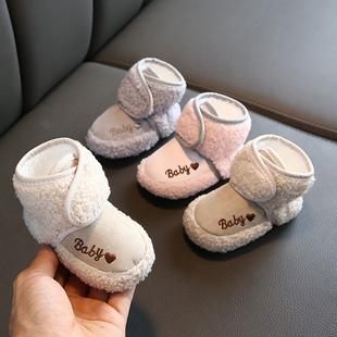 新生嬰兒鞋襪秋冬季防掉3-6-12個月9男女寶寶單鞋子學步軟底0-1歲