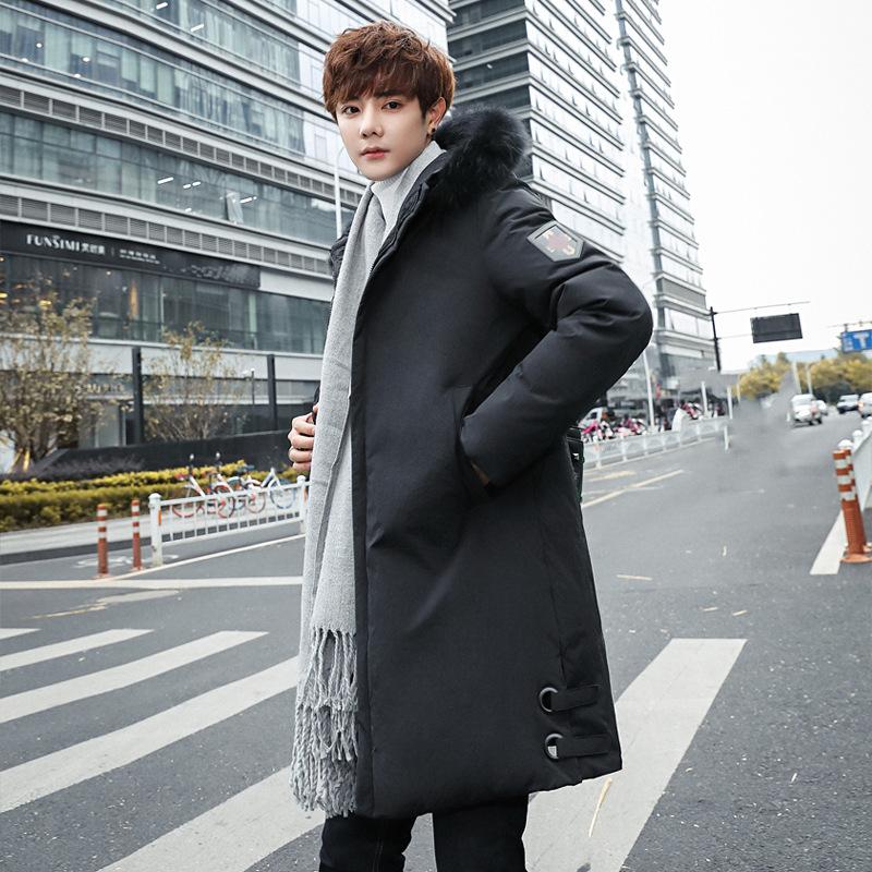 中长款羽绒服男士冬季加厚保暖外鸭绒外套青年韩版修身冷天上衣服