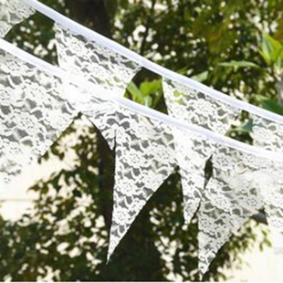 Fabric Personality Flags Wedding Banners Lace 2.9M Bunti