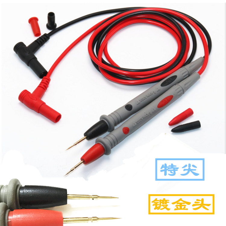 Высококачественных мультиметр карандаш тест палка руки линия 10A 20A общий ручка позолоченный специальный наконечник ультра-тонкий ручка