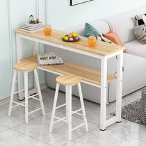 北欧吧台桌椅组合大理石简约吧椅创意奶茶店方形桌酒吧桌高脚桌子