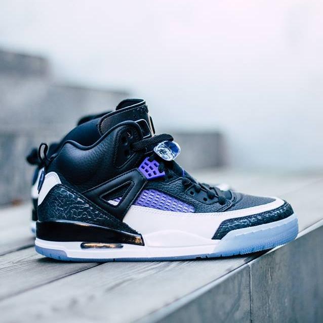 代购正品Jordan Spizike Concord斯派克李黑白紫水晶底男子篮球鞋