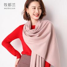 秋冬款纯色2019披肩围巾ins潮围脖女式韩版加厚加大