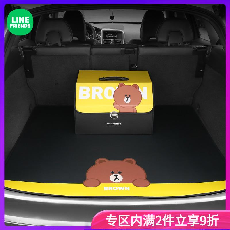 卡通个性定制专车专用汽车尾箱垫适用于奥迪宝马思域车载后备箱垫