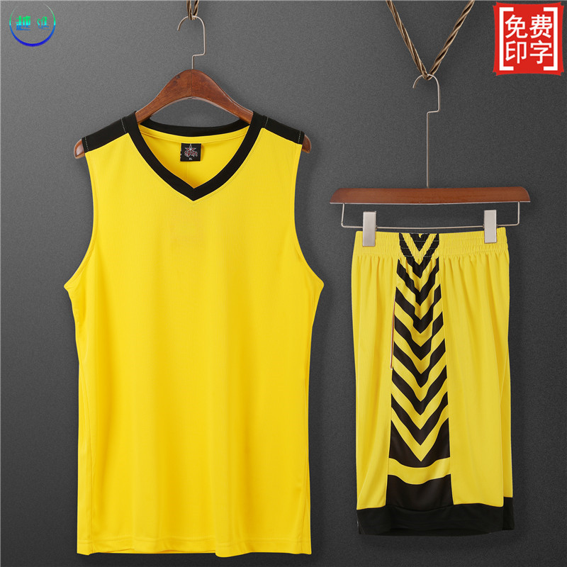 Quick drying and breathable group buying basketball suit mens and womens customized lettering Sports Training Camp Shirt cut sleeve top and shorts