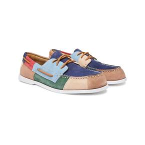 代购 Sperry Top-Sider 男2019冬季新品 拼色绒面革船鞋 低帮鞋