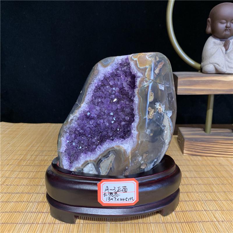 巴西乌拉圭原石摆件紫水晶簇水晶洞家居饰品客厅聚财纳福风水