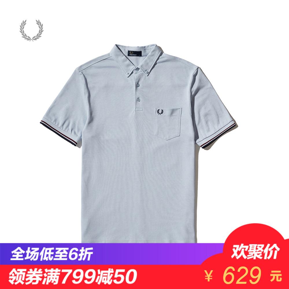 FRED PERRY男装POLO衫2018春季时尚潮流休闲撞色翻领T恤3561XMA