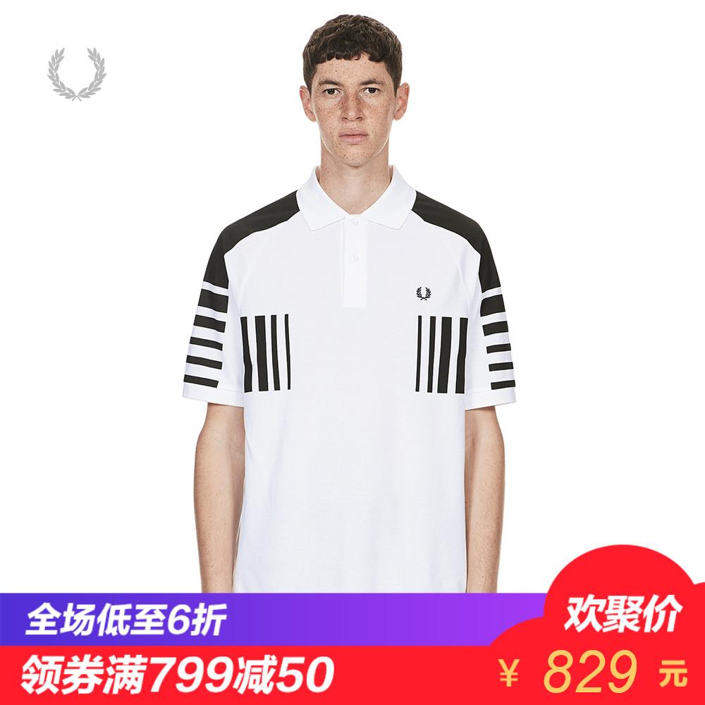 FRED PERRY男装POLO衫2018夏季休闲时尚翻领短袖简约T恤3586XMA