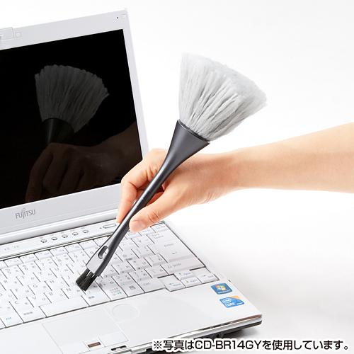 日本SANWA键盘清洁刷除尘刷电脑刷小刷子键盘电脑刷双头除静电