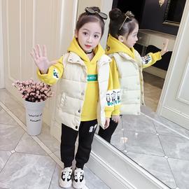 女童秋冬套装2020新款洋气网红冬季时髦加厚大童卫衣儿童三件套潮