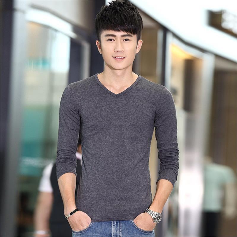 。男士长袖t恤秋季薄款男装上衣秋装打底衫韩版秋衣潮卫衣圆领衣