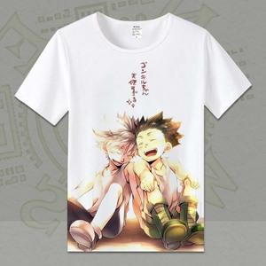 全职猎人衣服 小杰 西索 奇犽 雷欧力 日本二次元动漫周边短袖T恤