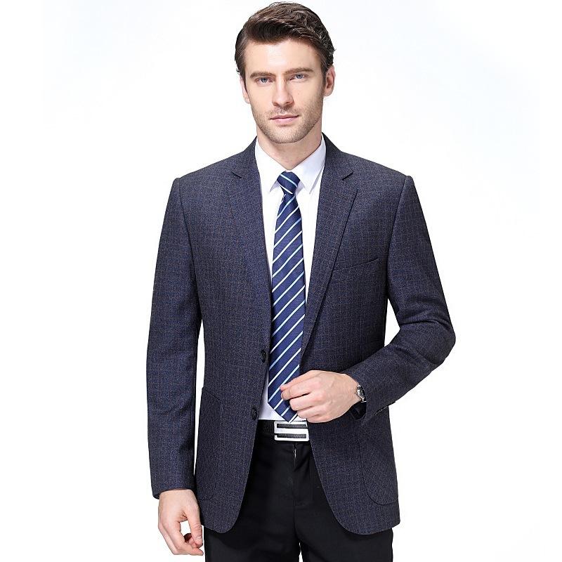 Crazy grab mens casual suit middle-aged mens coat mens dad autumn one-piece mens suit travel long sleeve