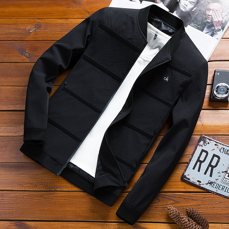 Mens Outerwear autumn 2019 new spring and autumn jacket mens Korean version slim trend cool casual clothes