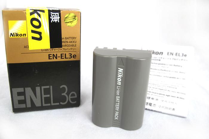 尼康原装D50D80D300哩电池S D200D700单反相机EN-EL3e D90数码相