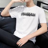 2019新款夏季男装半截袖夏天冰丝长袖上衣服韩版潮流亚博体育竞猜短袖t恤