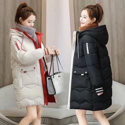冬季中长款羽绒女装韩版修身胖棉服