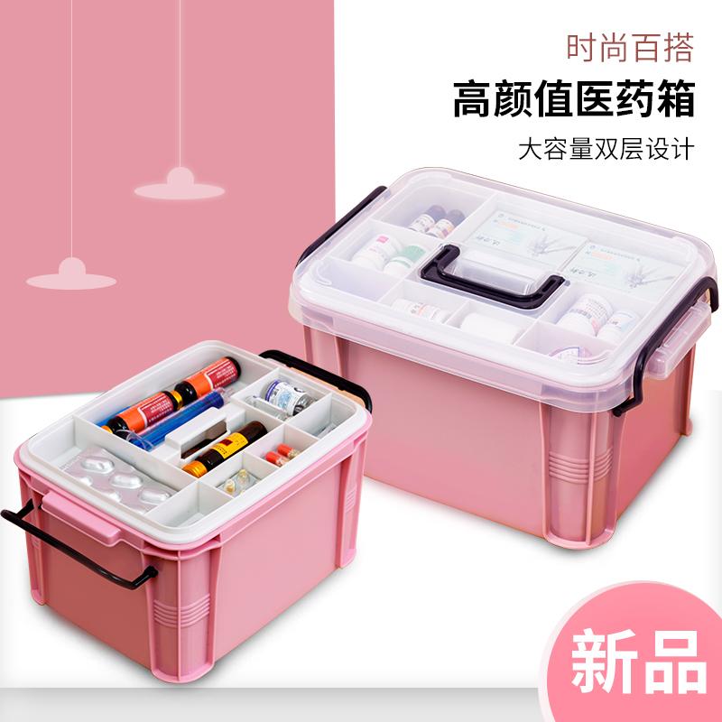 药箱家用医药箱应急医疗箱家庭装药品急救箱收纳盒便携小型大容量