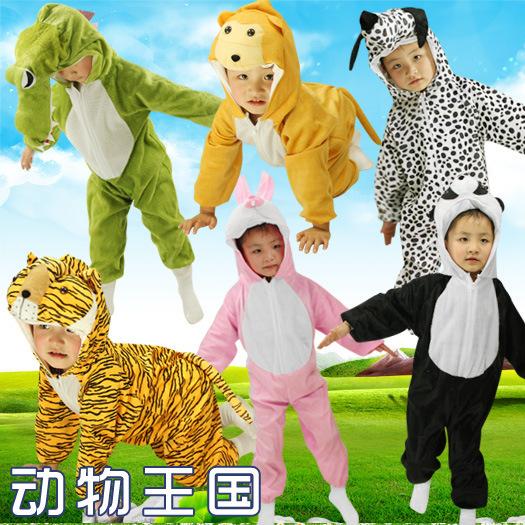 万圣节儿童表演出服饰幼儿园小鸡老虎猴子服装夏款男女童动物衣服