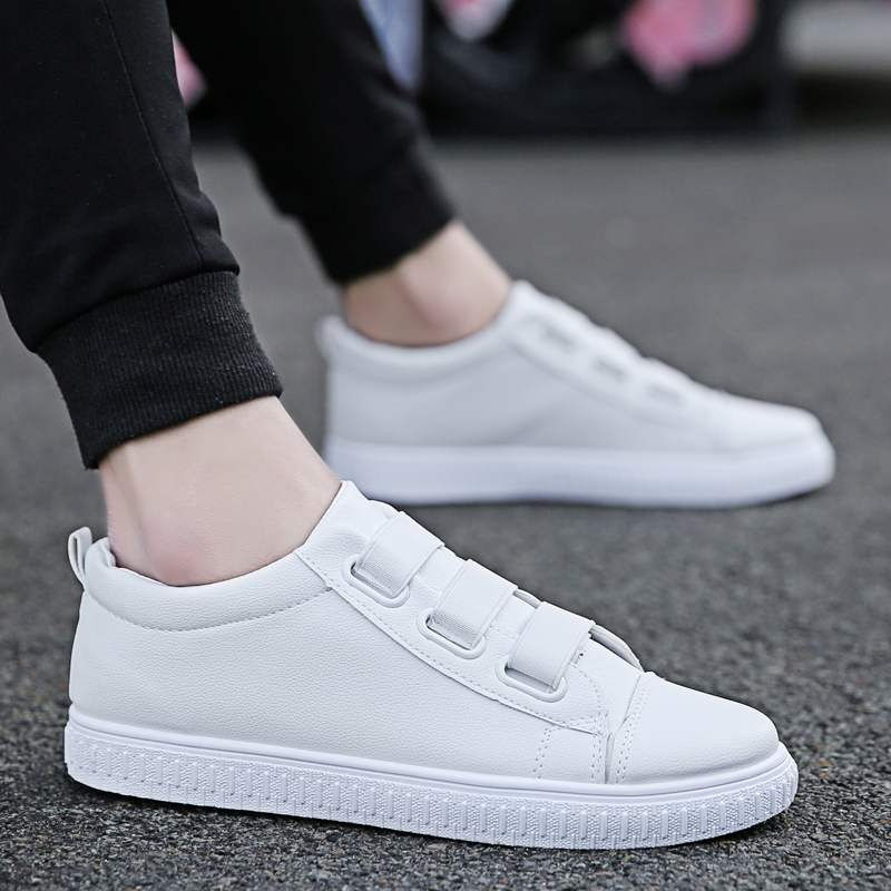Official website Liu Anta Han new mens one foot sports casual shoes shoeless student board shoes all white versatile