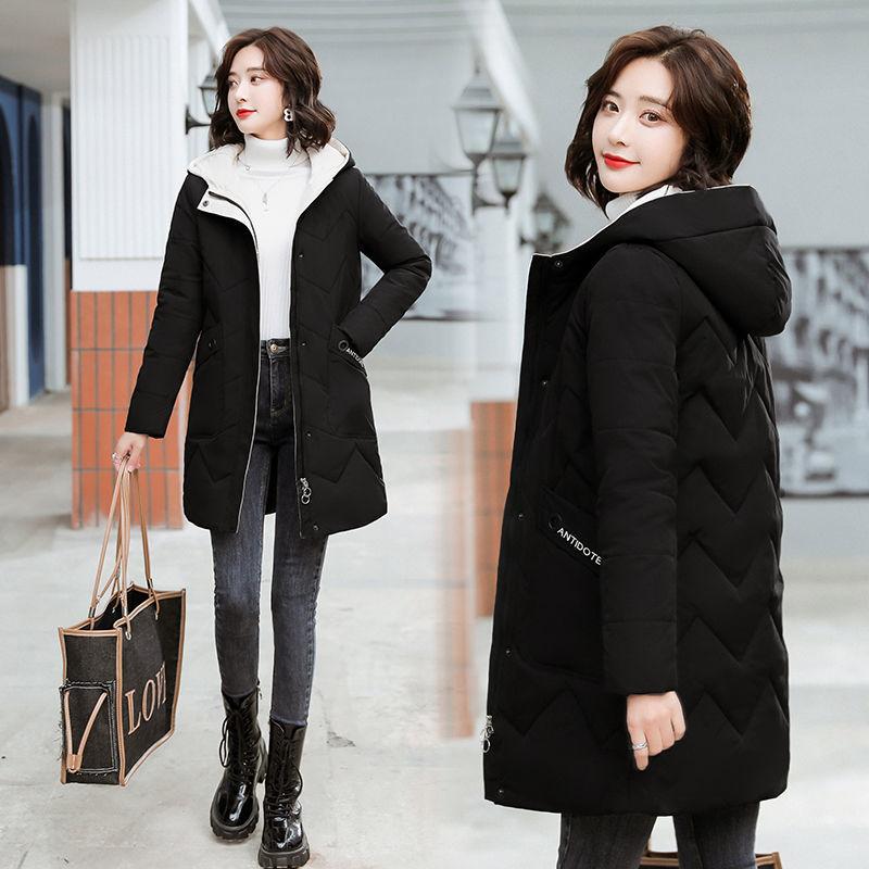女士棉衣中长款2020最新款棉袄子冬季加厚外套羽绒棉服洋气女装