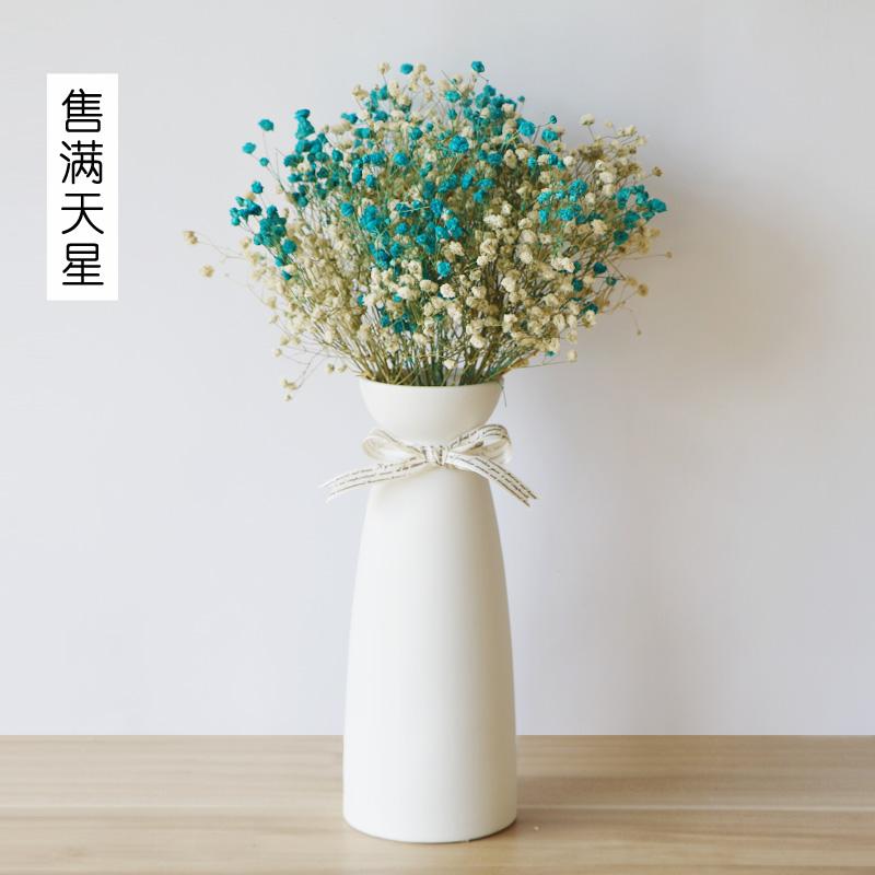 Керамика в небе звезда гидропоника ваза современный простой белый цветная вклейка гостиная офис комната небольшой свежий сухие цветы обеденный стол украшение