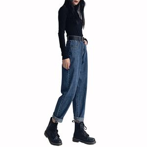 宽松直筒2021年夏季新款高腰牛仔裤