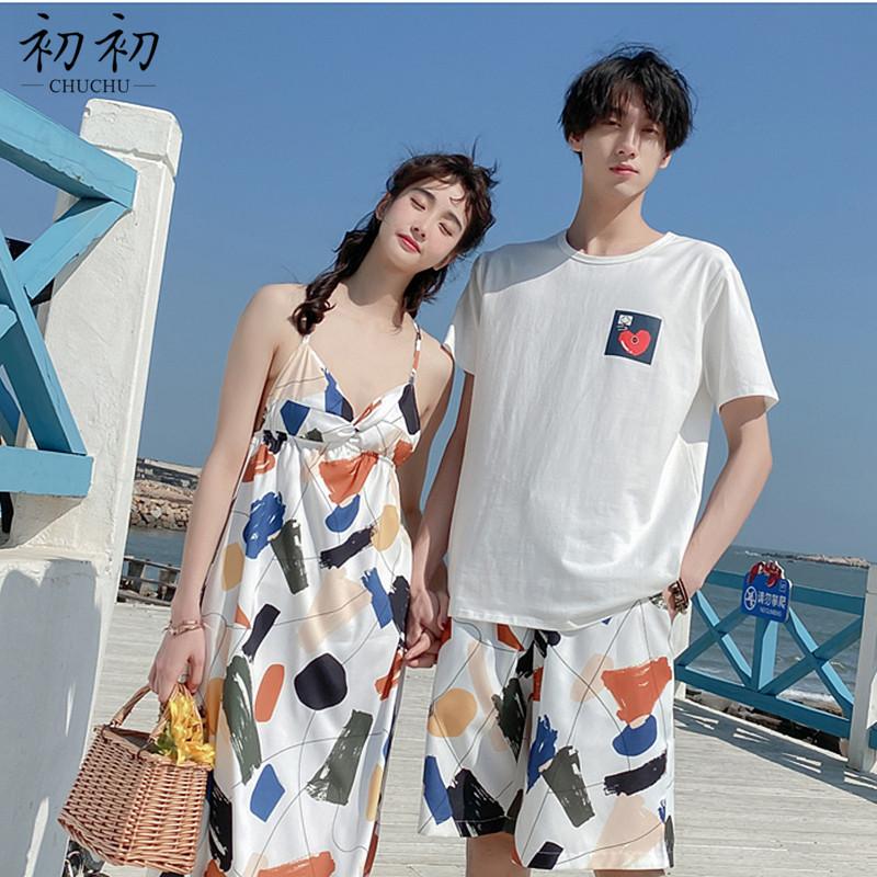 韩版高腰沙滩裙